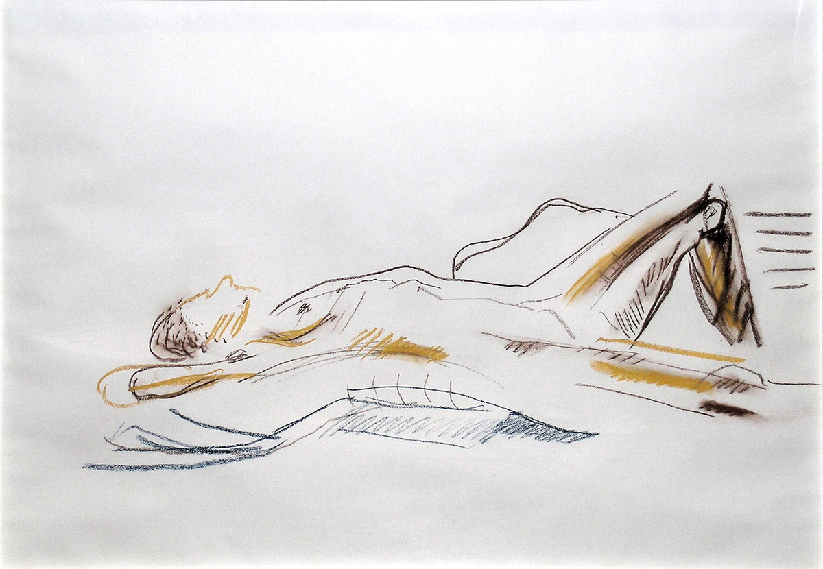 Reclining Female Model